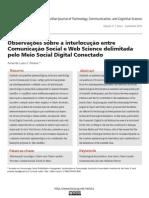 Observações sobre a interlocução entre Comunicação Social e Web Science delimitada pelo Meio Social Digital Conectado
