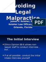 Avoiding Legal Malpractice