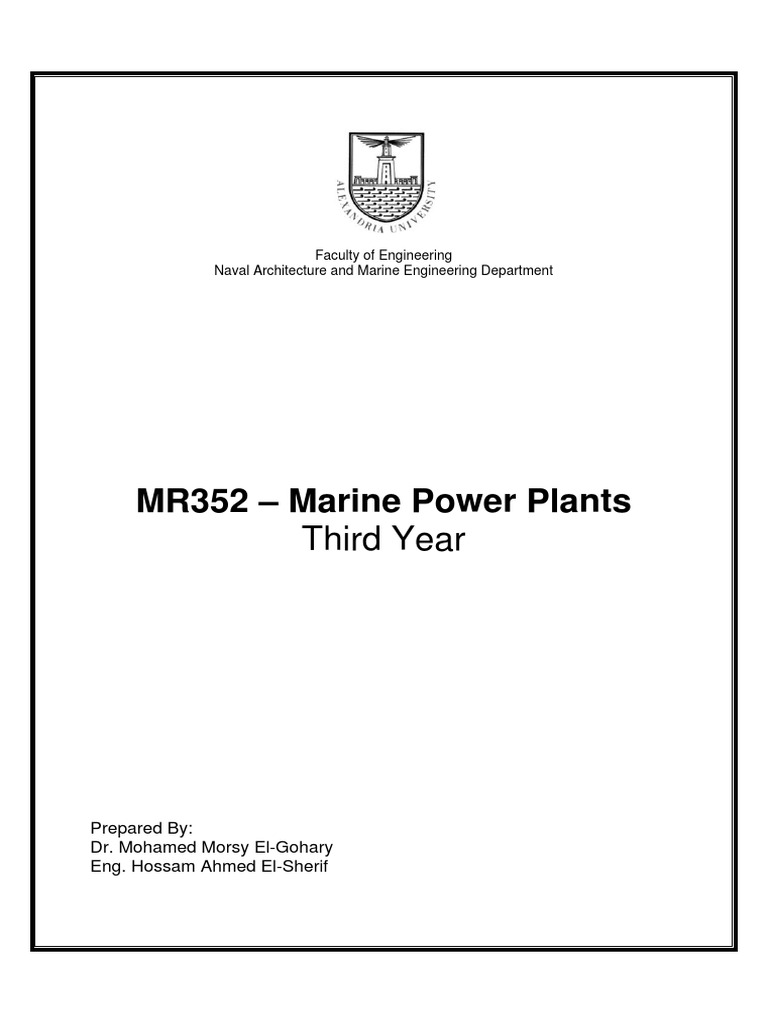 Marine Power Plants.pdf | Boiler | Water Heating