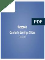 Facebook's Q3 2013 Report