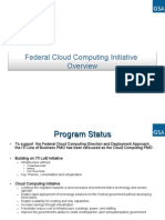 US Federal Cloud Computing Initiative Overview Presentation, (GSA)