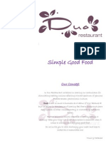 Duo Restaurant A la Carte menu  2013