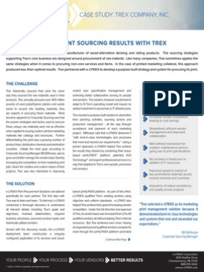 Elynxx Case Study Building Better Print Sourcing Results With Trex Procurement Business Process