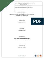 Preinforme Practica No 1 Determinacion de Algunas Constantes Fisicas de Compuestos Organicos