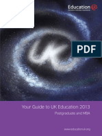 Postgraduate and MBA Guide 2013
