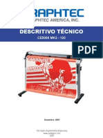 Ficha Técnica Equipamento de recorte Graphtec CE5000-120