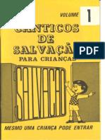 Canticos de Salvação vol. 1