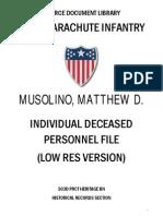 Musolino, Matthew D