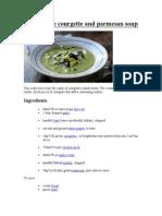 Courgette soups