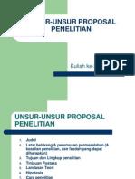Unsur Unsur Proposal Penelitian