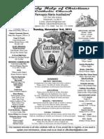 Bulletin for November 3rd, 2013