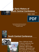 South Central Conference Early History.pps