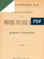 bosquejo historico de los partidos politicos chilenos - alberto edwards