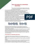 Algebra Lineal Aplicanda en La Ingenieria Industrial
