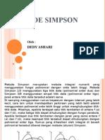 METODE SIMPSON