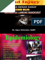 HEAD INJURY (Trauma Kepala) dr.Agus.ppt