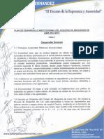 Plan de Desarrollo Institucional del Dr.  Julián Palacin Fernández Candidato al CAL.