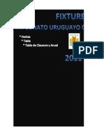 Fixture y Tabla de Posiciones Campeonato Uruguayo Clausura 2011