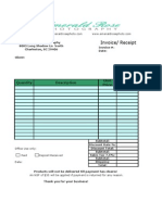 Invoice/ receipt
