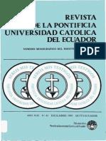 Revista de La Universidad Pontifica Del Ecuador Revista 43