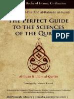 PerfectGuideToTheSciencesOfTheQuranAl-itqanFiUlumAl-quranByImamSuyutimuneerFareed.epub