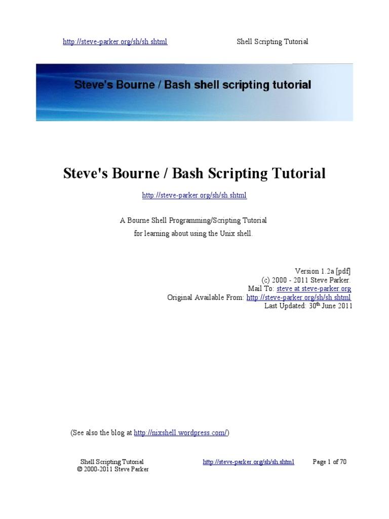 shellscriptingbook-sample - Steves Bourne-Bash Scripting