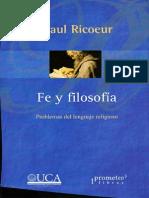 Fe y  Filosofía Paul Ricoeur