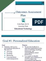 ed tech assessment plan power point