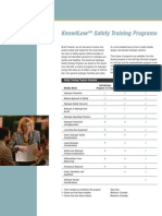 KnowH2ow Safety Training Programs