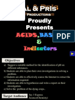 Acid Bases Indicators