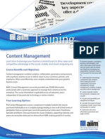 AIIM Content Management Training