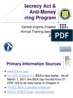 Bank Secrecy Act & Anti-Money Laundering Program Training 2011 for website.ppt