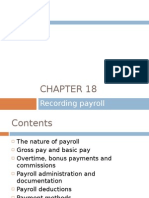 Chapter 18 - Recording Payroll Transactions