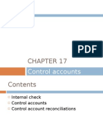 Chapter 17 - Control Accounts