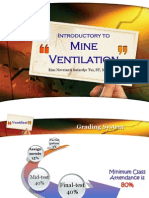 Kuliah 1 - Introductory to Mine Ventilation
