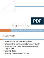 Chapter 15 - Purchase and Purchase Returns Day Books