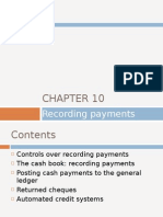 Chapter 10 - Recording Payments