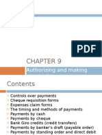 Chapter 9 - Authorizing and Making Payments
