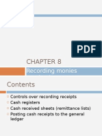 Chapter 8 - Recording Monies Received