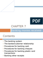 Chapter 7 - Banking Monies Revceived