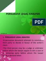 1 PERSUASIVE LEGAL ANALYSIS.ppt