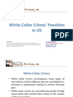 White Collar Crimes' Penalties in US