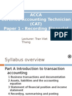 Chapter 1 - Business Transactions and Documentation