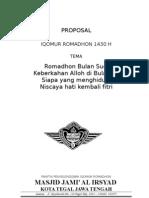 Proposal Masjid Romadhon 1430