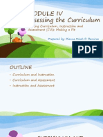 Linking Curriculum, Instruction and Assessment (CIA) Making a Fit