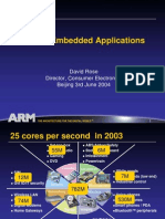 ARM in Embedded Applications - David Rose@ARM