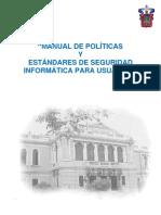 Manual de Politicas y Estandares de Seguridad a Para Usuarios