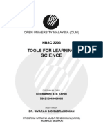 TOOLS FOR LEARNING SCIENCE