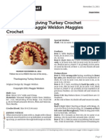 Thanksgiving Turkey Crochet Dishcloth