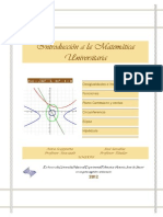 Introduccion a La Matematica Universitaria